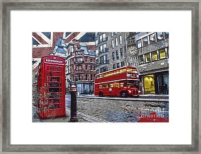 London Street Creation Framed Print