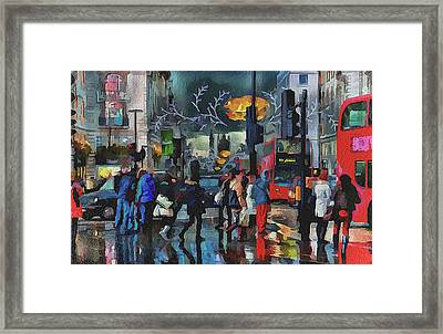London Streets 3 Framed Print by Yury Malkov