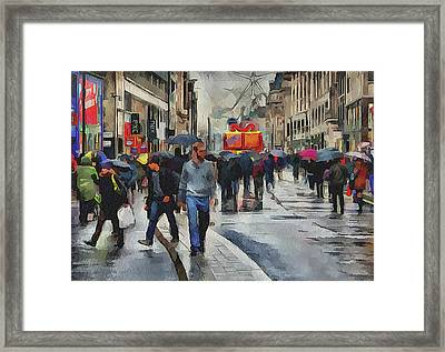 London Streets 4 Framed Print by Yury Malkov