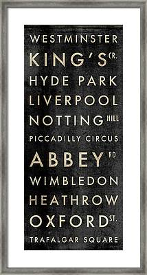 London Subway Framed Print