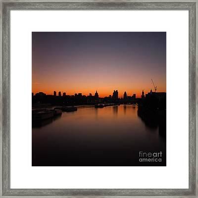 London Sunrise 2 Framed Print