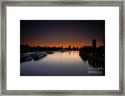 London Sunrise Framed Print