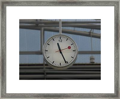 London - Swiss Time Framed Print