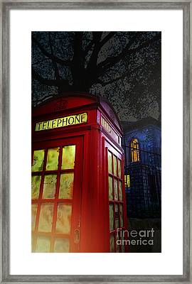 London Tardis Framed Print