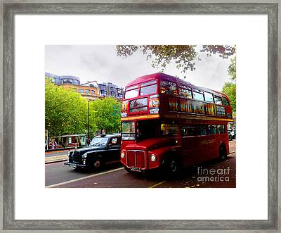 London Taxi And Bus Framed Print