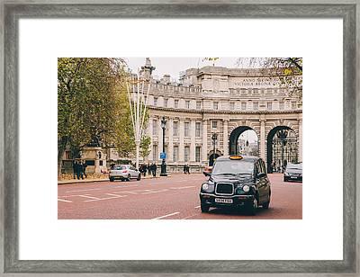London Taxi Framed Print