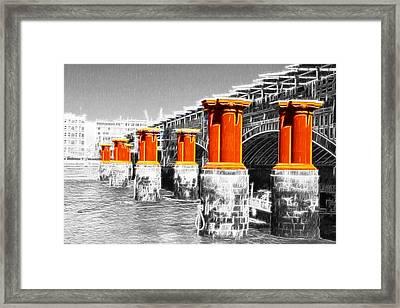 London Thames Bridges Fractals Framed Print by David French