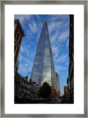 London The Shard Framed Print by Steven Richman
