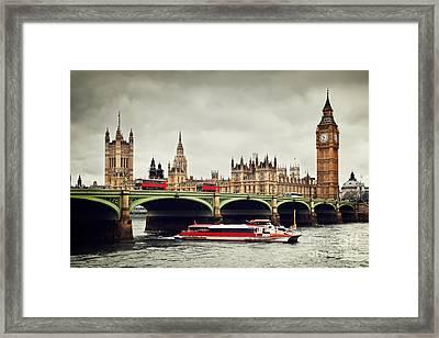 London The Uk Big Ben Framed Print