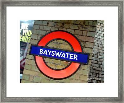 London Tube Framed Print by Isabelle Weissmann