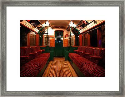 London Undergound Car Framed Print by Mark Rogan