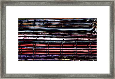 London Underground Cables Framed Print by Mark Rogan
