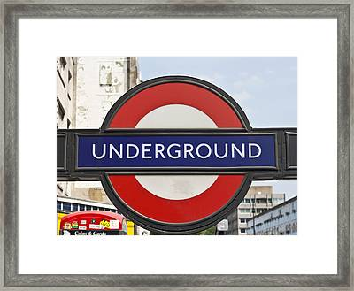 London Underground Framed Print by Georgia Fowler