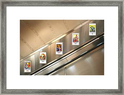 London Underground Poster Collection Framed Print by Mark Rogan