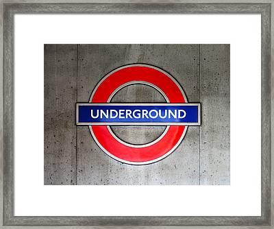 London Underground Sign Framed Print