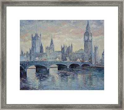 London Westminster Bridge Framed Print