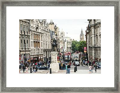 London Whitehall Framed Print