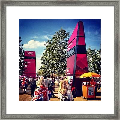London2012 #london2012 #olympicpark Framed Print