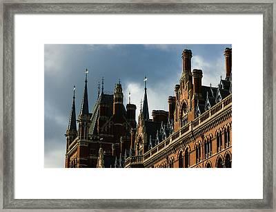 London's Eurostar Train Station St Pancras - A Remarkable Victorian Gothic Revival Building Framed Print by Georgia Mizuleva
