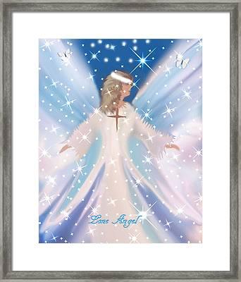 Lone Angel Framed Print by Sherri's Of Palm Springs