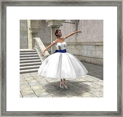 Framed Print featuring the digital art Lone Ballet Dancer by Jayne Wilson