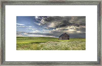 Lone Barn  Framed Print by Latah Trail Foundation