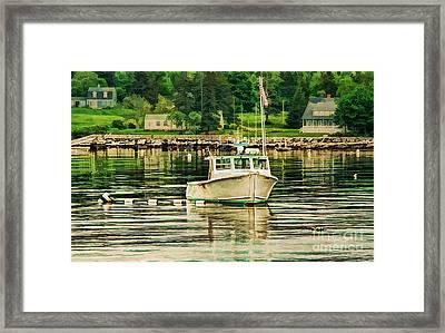 Lone Boat Framed Print by Darren Fisher