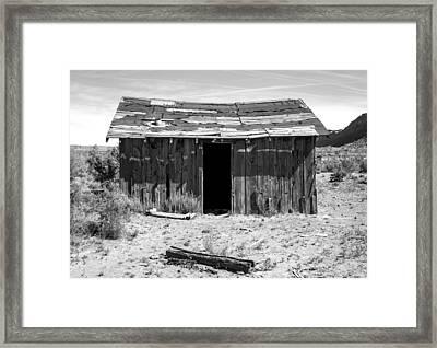 Lone Cabin Framed Print by Stellina Giannitsi
