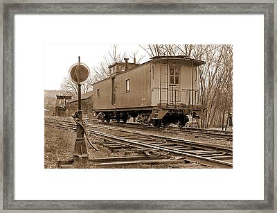 Lone Caboose Framed Print