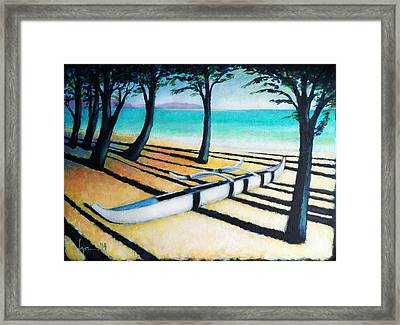 Framed Print featuring the painting Lone Canoe by Angela Treat Lyon