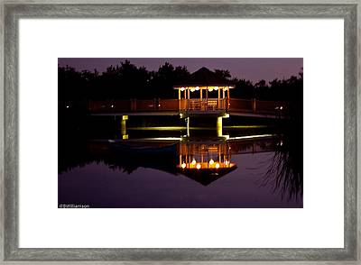 Framed Print featuring the photograph Lone Canoe by Brian Williamson