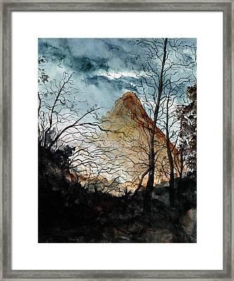 Lone Cone Framed Print
