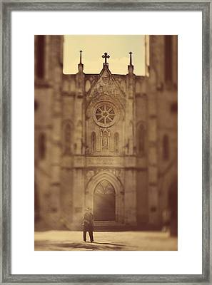 Framed Print featuring the photograph Lone Cowboy by Heather Green