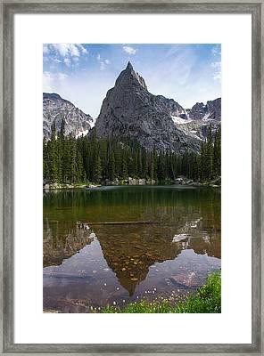Lone Eagle Peak - Vertical Framed Print