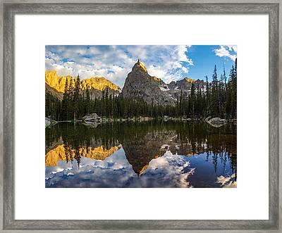 Lone Eagle Peak And Mirror Lake Framed Print