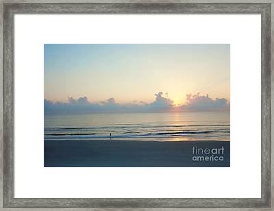 Lone Fisherman Framed Print by Kay Pickens