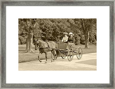 Lone Four Wheel Cart Framed Print by Wayne Sheeler