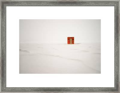 Lone Ice Shanty Framed Print by Darylann Leonard Photography