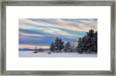 Lone Icy Shanty Framed Print by Darylann Leonard Photography