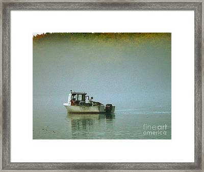 Lone Lobsterman Framed Print by Christopher Mace