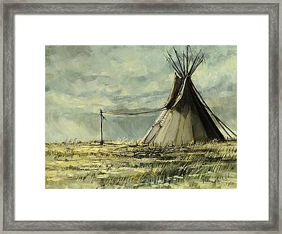 Lone Lodge Framed Print