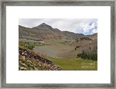 Framed Print featuring the photograph Lone Mountain Summit by Charles Kozierok