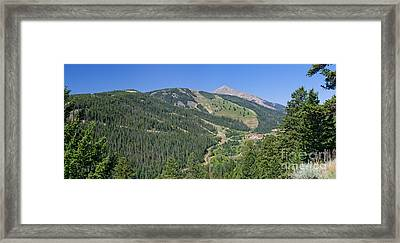 Framed Print featuring the photograph Lone Mountain Valley by Charles Kozierok