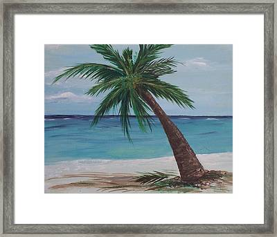 Framed Print featuring the painting Lone Palm by Debbie Baker