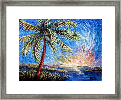 Lone Palm Framed Print by Sebastian Pierre