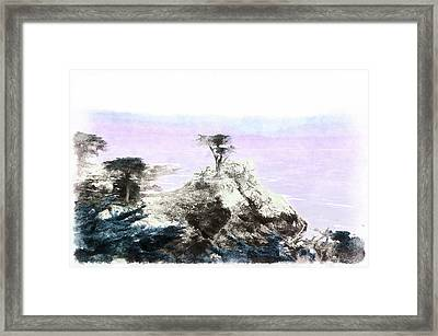 Lone Pine Pebble Beach Framed Print