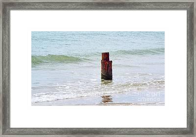 Lone Post Framed Print