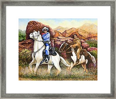 Lone Ranger And Tonto Ride Again Framed Print by Michael Frank