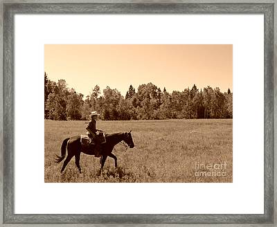 Framed Print featuring the photograph Lone Ranger by Sarah Mullin