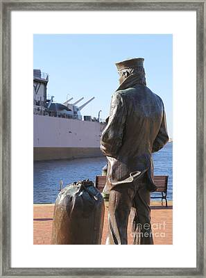 Lone Sailor In Color Framed Print by Dwight Cook